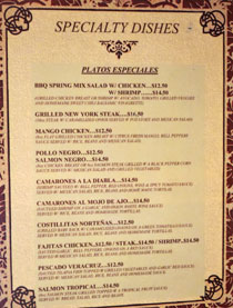 Taqueria Los Anaya Menu: Specialty Dishes