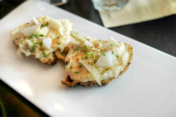 Smoked Yellowtail Toast