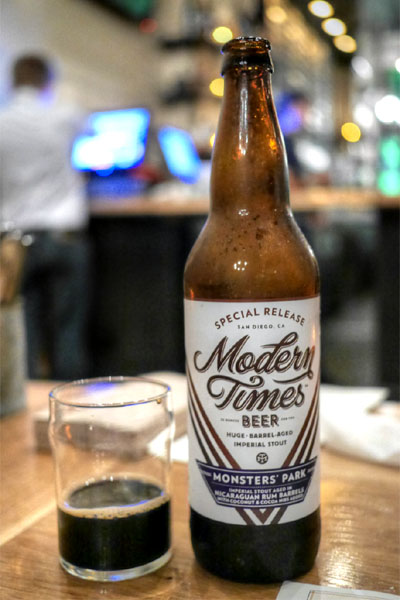 2015 Modern Times Monsters' Park aged in Nicaraguan Rum Barrels with Coconut & Cocoa Nibs
