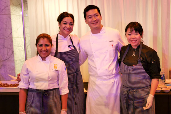 Pastry Chef Frania Mendivil, Executive Chef Paul Lee & Patina Team