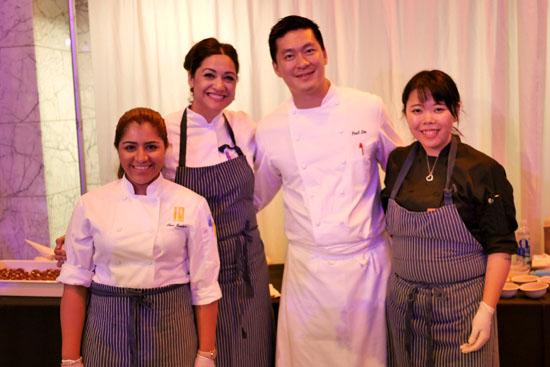 Pastry Chef Frania Mendivil, Executive Chef Paul Lee & Patina Team