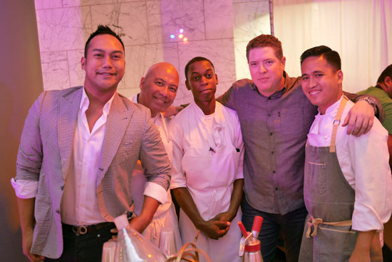 Beverage Director Devon Espinosa, Executive Chef Steven Fretz, Pastry Chef Ian Opina & The Church Key Team