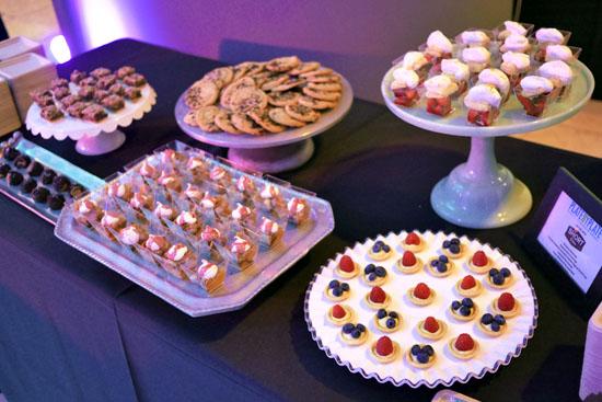 Pecan, Whiskey and Chocolate Bars / Chocolate Chip Cookies / Seasonal Stone Fruit Crisps / Strawberry Shortcakes / Seasonal Berry Tarlets