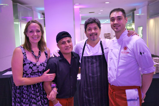 Chef/Owner Andre Guerrero, Chef Clinton Dunn & Maximiliano Team