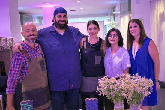 David Rosoff, Chef Chris Feldmeier, PR Manager Tessa Naso & Moruno Team