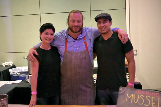 Director of Special Events Christina Lee, Executive Chef Kris Morningstar & Terrine Team