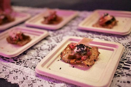 NY Steak Tartare | miso aioli, whole grain crackers