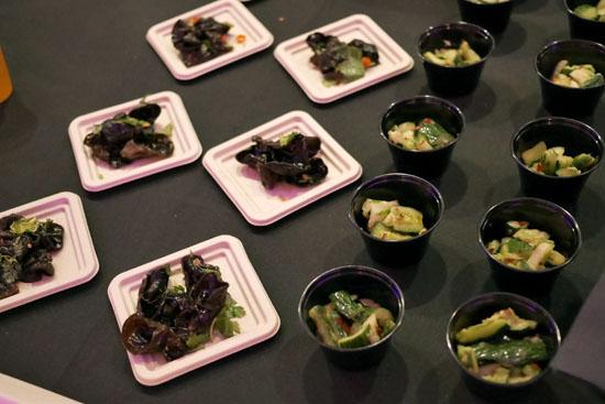 Passion Fruit Shandy / Passion Fruit Green Tea / Woodear Salad / Cucumber Salad