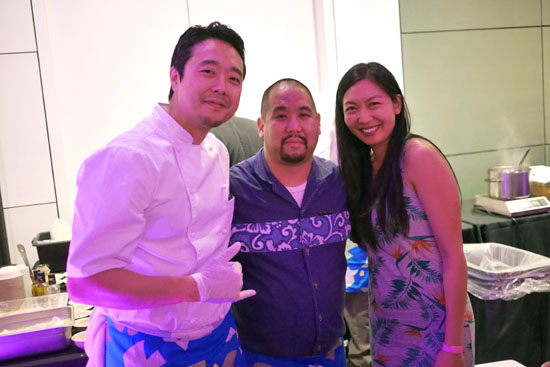 Executive Chef Johnny Yoo, Yoshi, Publicist Andrea Sun