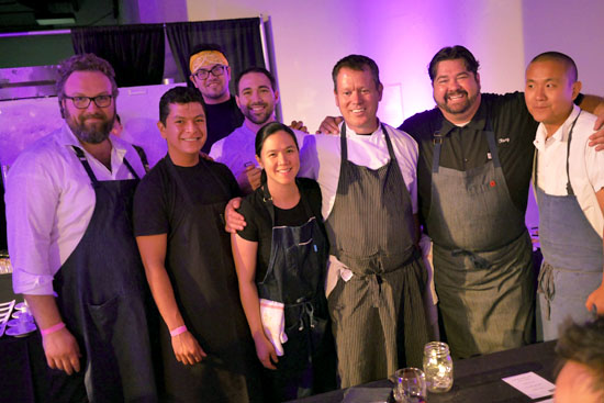 GM/Beverage Director Taylor Parsons, Pastry Chef Margarita Manzke, Executive Chef Walter Manzke, Director of Culinary Operations Rory Herrmann & Republique Team