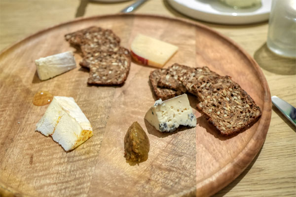 cheeses: served with sunflower rugbrod & green tomato chutney