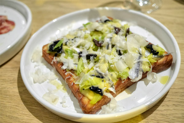 anchovy, celery, & olive tartine