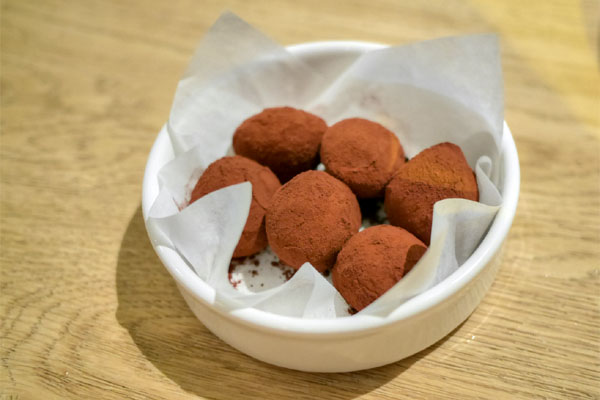 TCHO chocolate and champagne truffles
