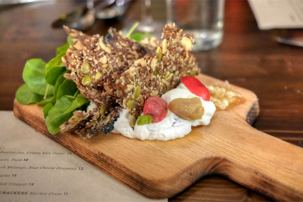 Housemade Cheese & Wild Seed Crackers