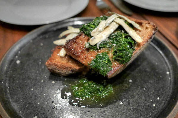 Lodge Bakery Bread, White Anchovy, Salsa Verde