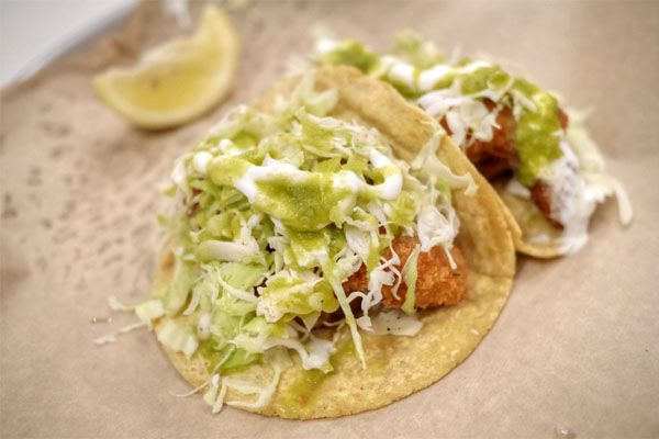 Breaded Shrimp Taco