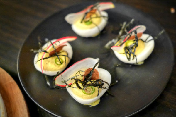 Red Curry Deviled Eggs