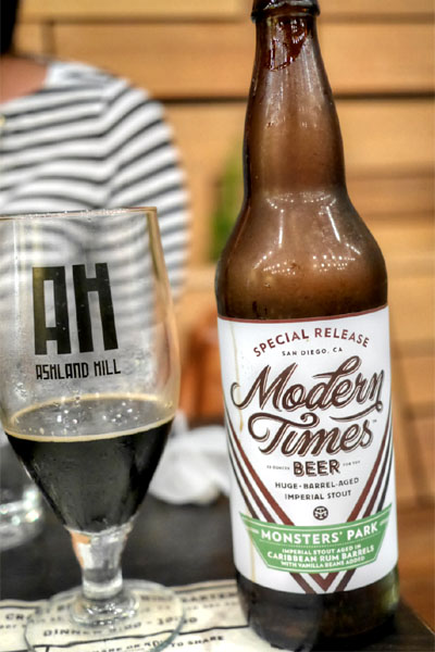2015 Modern Times Monsters' Park aged in Caribbean Rum Barrels with Vanilla Beans