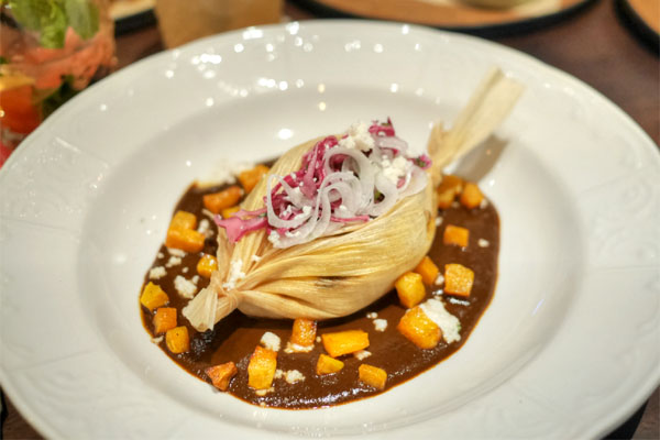 Duck Leg & Chanterelle Tamale