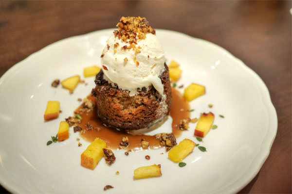 Spanish Sticky Date Cake w Spiced Pecans & Vanilla Ice Cream