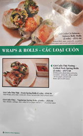 Garlic & Chives Menu: Wraps & Rolls - Cac Loai Cuon