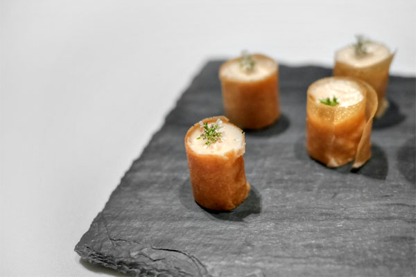 Smoked Salmon Mousse, Filo