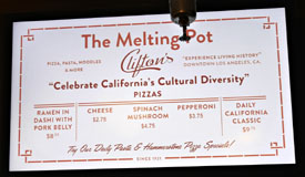 Clifton's Menu: The Melting Pot