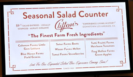 Clifton's Menu: Seasonal Salad Counter