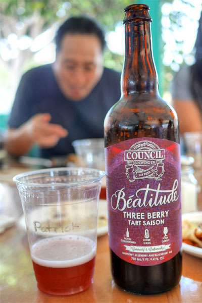 2015 Council Beatitude Three Berry Tart Saison