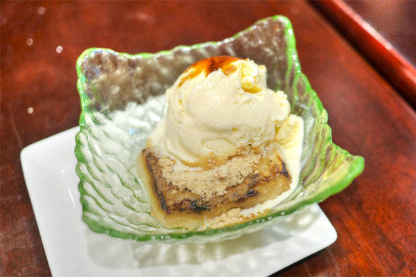 Kinako (Soy Bean Flour) Mochi with Vanilla Ice Cream