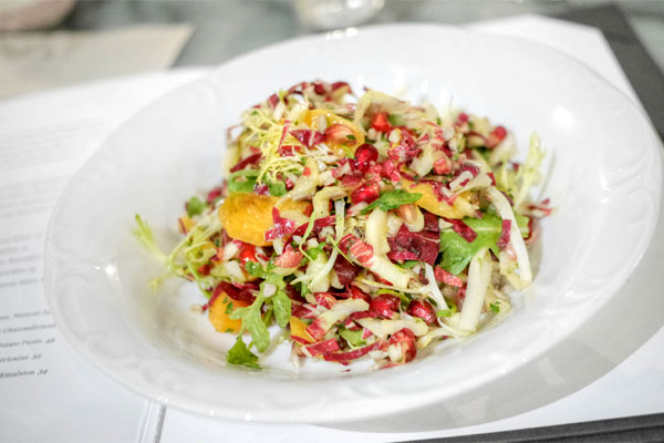 Fuyu Persimmon & Pomegranate Salad