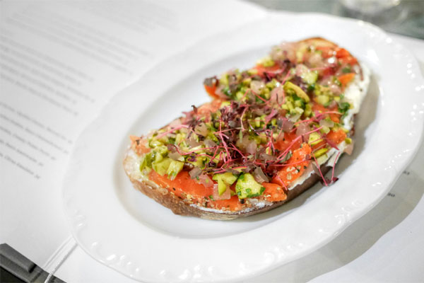 Pastrami-Cured Wild Salmon Tartine