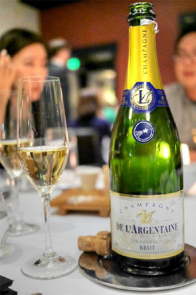 De l'Argentaine, Blanc de Noirs, Champagne, NV