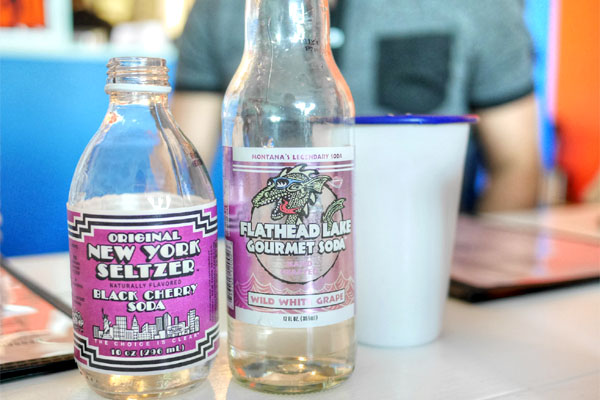 New York Black Cherry Seltzer / Wild White Grape Soda