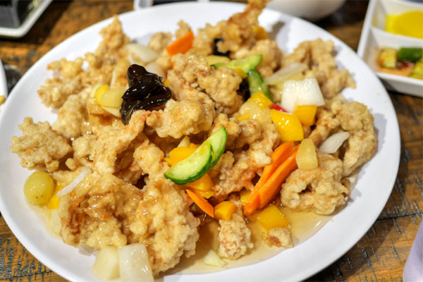 Deep-Fried Pork with Sweet & Sour Sauce
