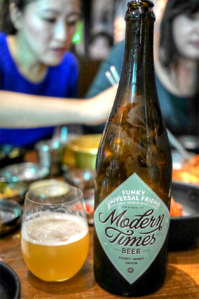 2015 Modern Times Funky Universal Friend with Pinot Grigio Must