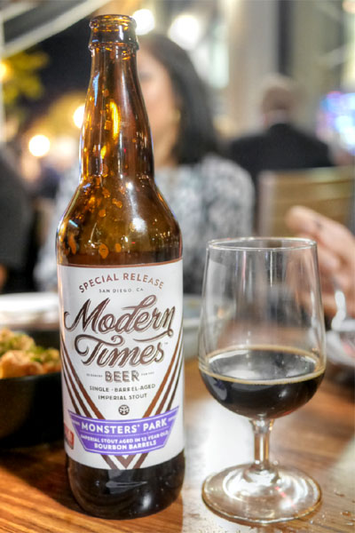2015 Modern Times Monsters' Park Aged in 12 Year Old Elijah Craig Bourbon Barrels