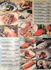 Kagura Menu: Appetizer / Sashimi