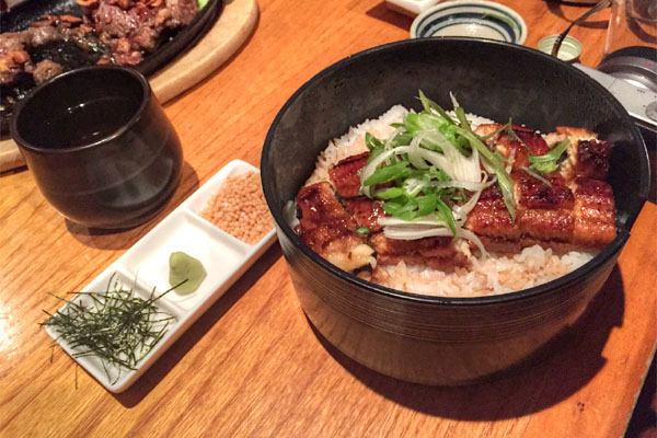Grilled Eel on Rice, Served with Ochazuke Style Dashi Broth
