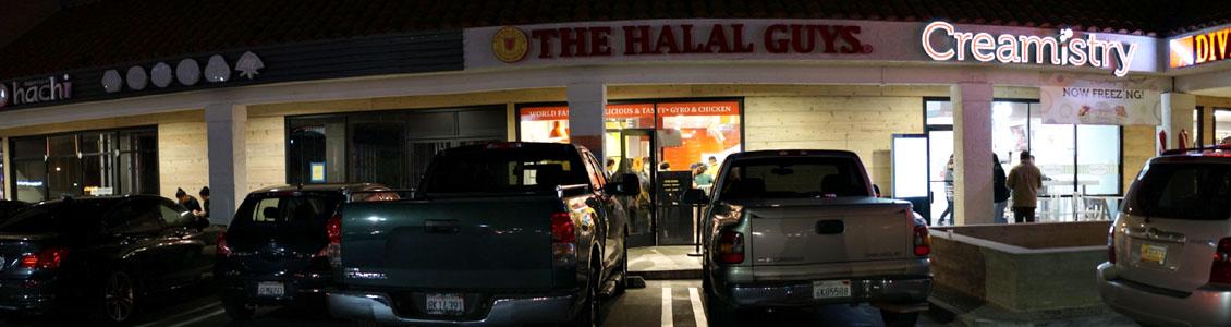 Halal Guys Exterior