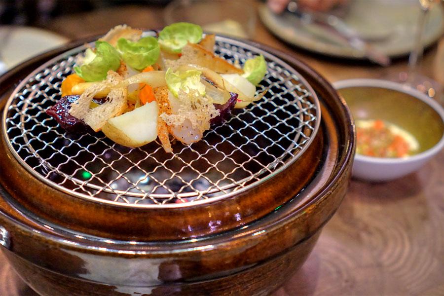 Donabe Smoked Hiramasa Pastrami·Beet·Potato·Rye·Thousand Island