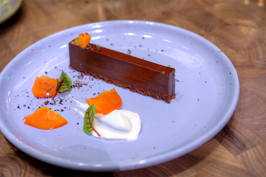 Chocolate Torte·Persimmon·Olive Sable·EVO Jam