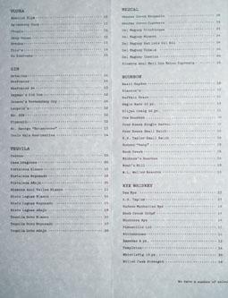 Otium Spirits List