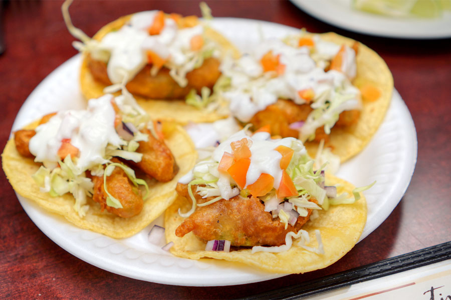 Beer Battered Avocado Taco