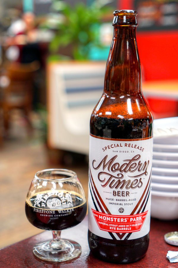 2015 Modern Times Monsters' Park aged in 7-Year Old Smooth Ambler Rye Barrels