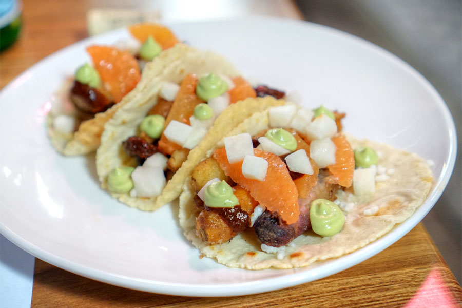 Fried Baby Carrot Taco