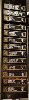 Arts District Brewing House Tap List