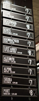 Arts District Brewing Guest Tap List