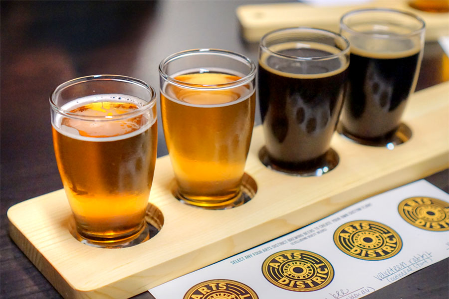 Arts District Brewing Traction / Busy Bee / Velveteen Rabbit / Porter Rico