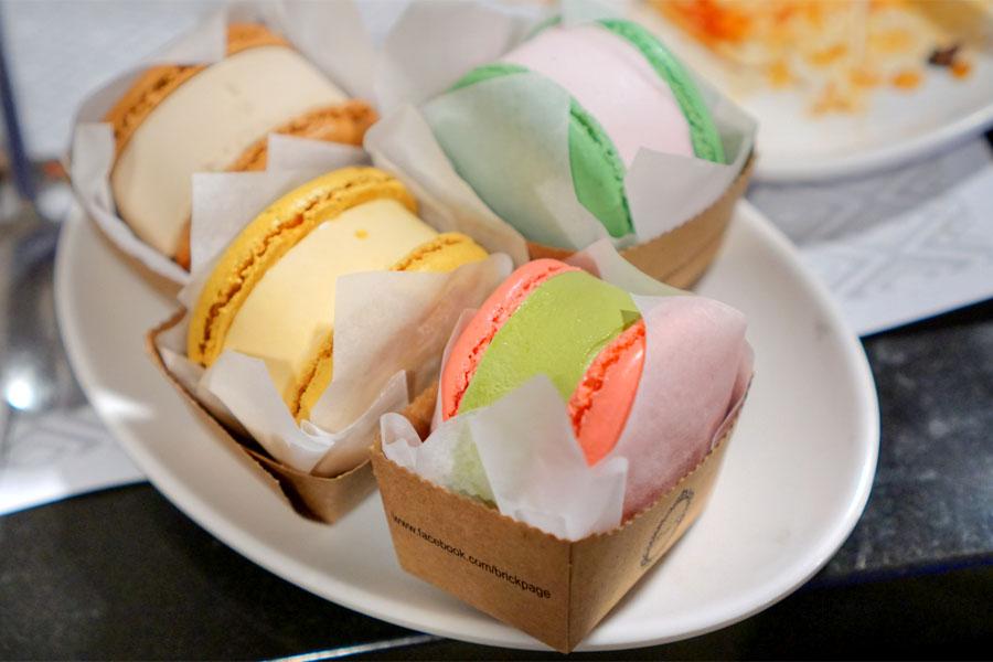 Brick Macaron Ice Cream